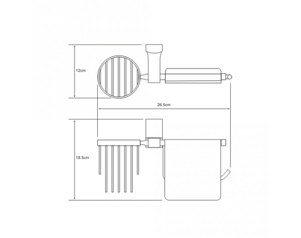 Держатель туалетной бумаги и освежителя WasserKRAFT (Германия) Leine 5059