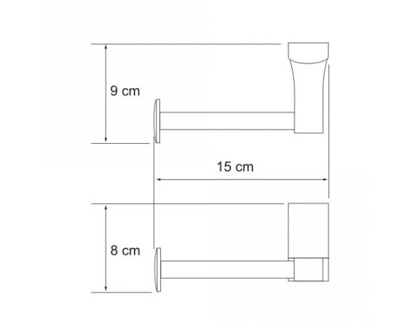 Держатель туалетной бумаги WasserKRAFT (Германия) Leine 5096