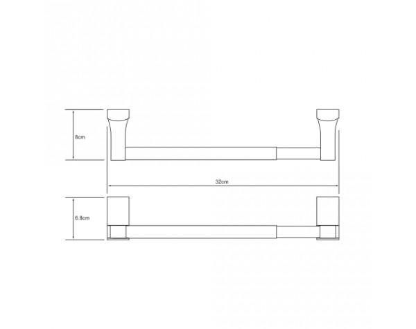 Держатель бумажных полотенец 32см WasserKRAFT (Германия) Exter 5222D