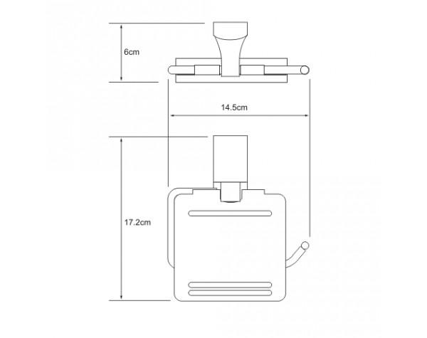 Держатель туалетной бумаги с крышкой WasserKRAFT (Германия) Exter 5225