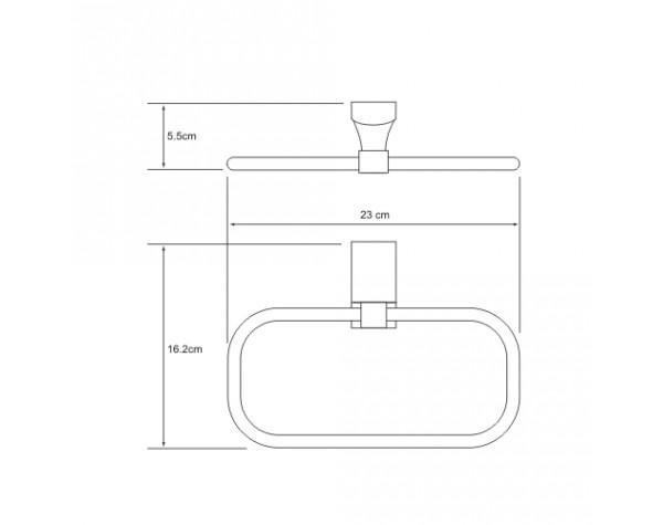 Держатель полотенец кольцо WasserKRAFT (Германия) Exter 5260