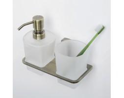 Держатель дозатора и стакана WasserKRAFT (Германия) Exter 5289