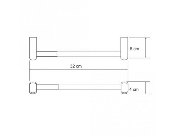 Держатель бумажных полотенец 32см WasserKRAFT (Германия) Berkel 6822D
