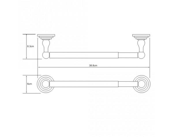 Держатель бумажных полотенец 32см WasserKRAFT (Германия) Ammer 7022D