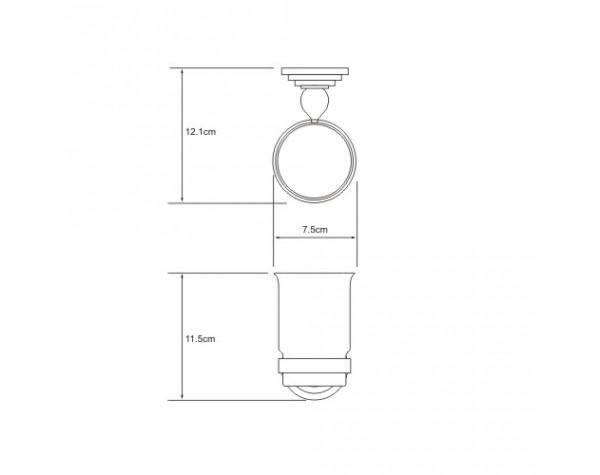 Подстаканник одинарный WasserKRAFT (Германия) Ammer 7028