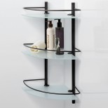 Полка стеклянная угловая тройная WasserKRAFT (Германия) Isar 3633