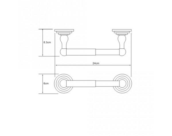 Держатель туалетной бумаги WasserKRAFT (Германия) Isar 7322