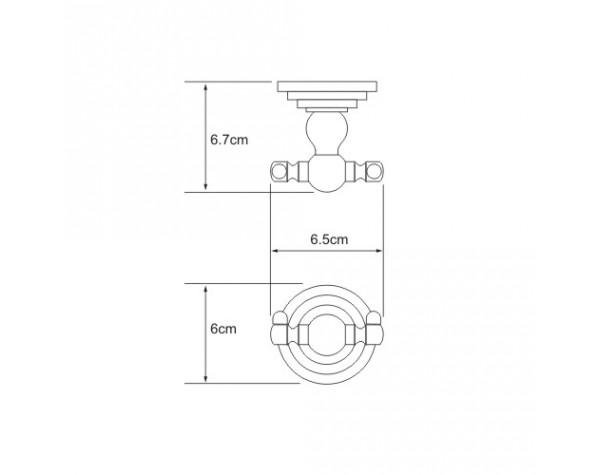 Крючок двойной WasserKRAFT (Германия) Isar 7323