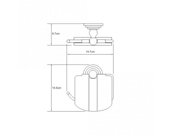 Держатель туалетной бумаги с крышкой WasserKRAFT (Германия) Isar 7325