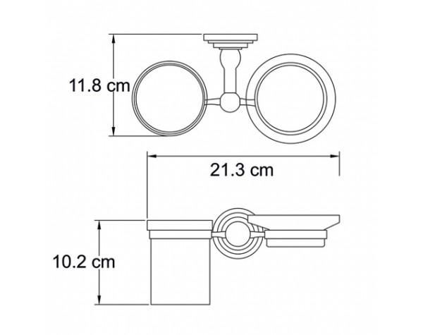 Держатель стакана и мыльницы WasserKRAFT (Германия) Isar 7326