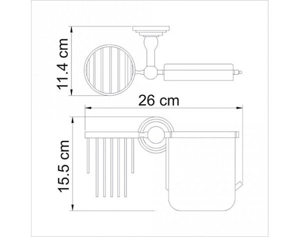 Держатель туалетной бумаги и освежителя WasserKRAFT (Германия) Isar 7359
