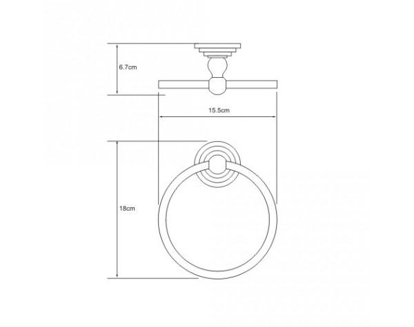 Держатель полотенец кольцо WasserKRAFT (Германия) Isar 7360