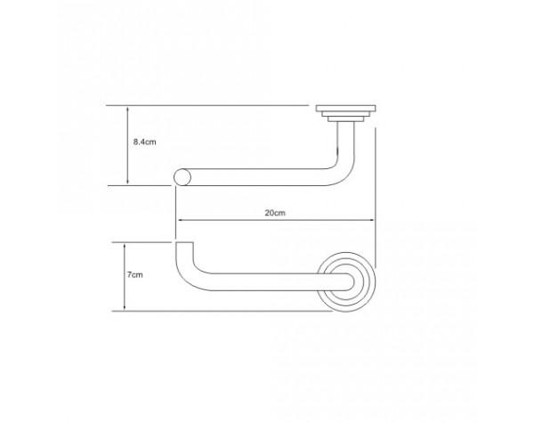 Держатель туалетной бумаги WasserKRAFT (Германия) Isar 7396