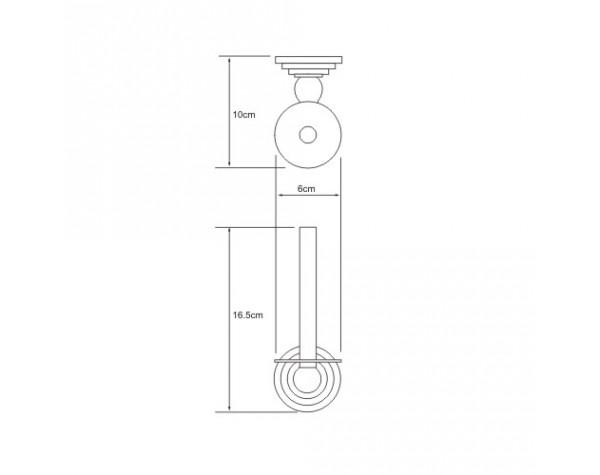 Держатель туалетной бумаги вертикальный WasserKRAFT (Германия) Isar 7397