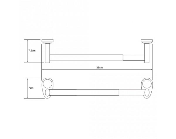 Держатель бумажных полотенец 32см WasserKRAFT (Германия) Main 9222D