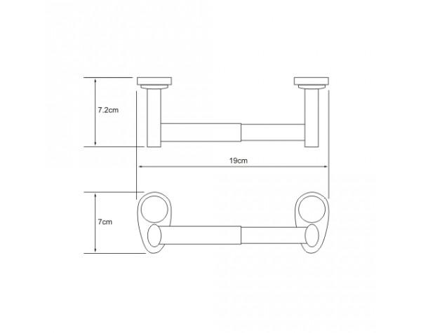 Держатель туалетной бумаги WasserKRAFT (Германия) Main 9222