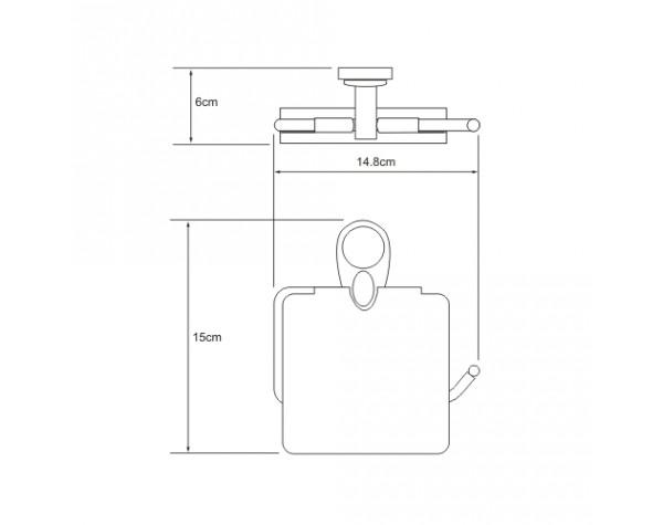 Держатель туалетной бумаги с крышкой WasserKRAFT (Германия) Main 9225