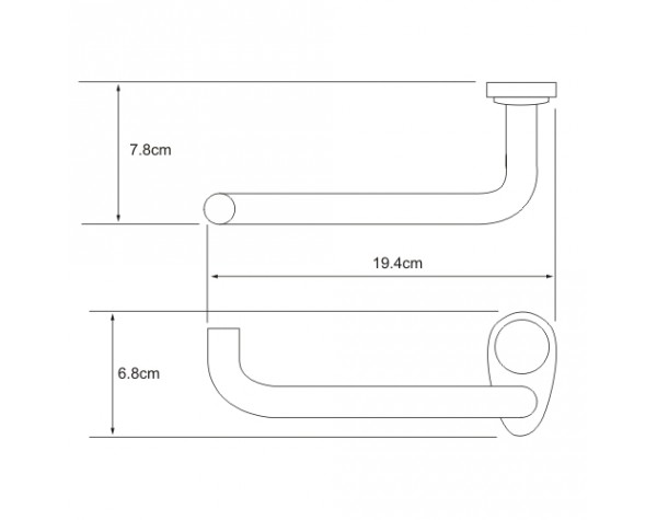 Держатель туалетной бумаги без крышки WasserKRAFT (Германия) Main 9296