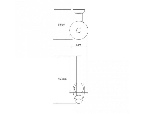 Держатель туалетной бумаги вертикальный WasserKRAFT (Германия) Main 9297