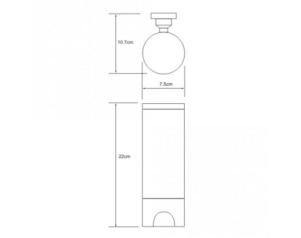 Диспенсер для ватных дисков WasserKRAFT (Германия) 1079