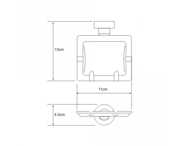 Пепельница подвесная WasserKRAFT (Германия) 1081