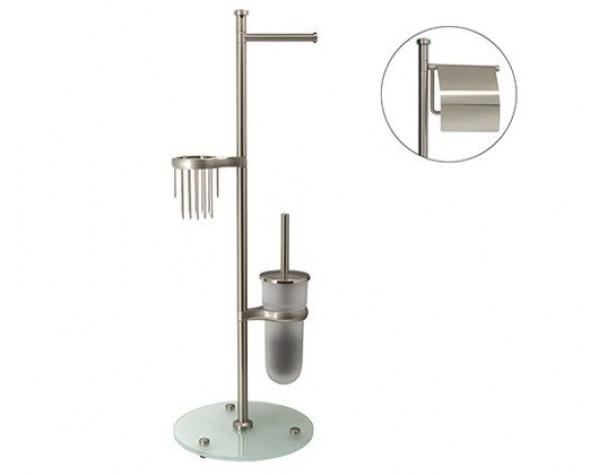 Комбинированная напольная стойка матовый хром WasserKRAFT 1236