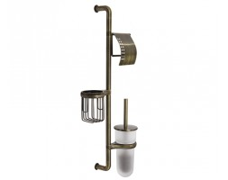 Комбинированная настенная стойка светлая бронза WasserKRAFT 1458