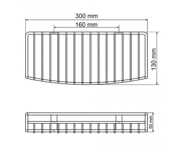 Полка металлическая прямая 30см темная бронза WasserKRAFT 1811