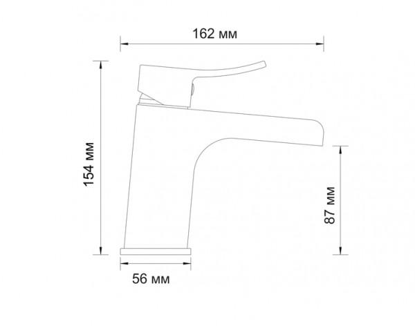 Смеситель для умывальника WasserKRAFT (Германия) Aller 1063