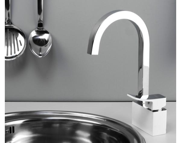 Смеситель для кухни WasserKRAFT (Германия) 1067White
