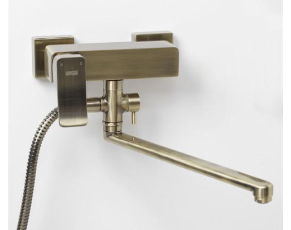Смеситель для ванны с длинным поворотным изливом 350 мм WasserKRAFT (Германия) Exter 1602L