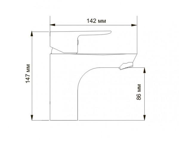 Смеситель для умывальника WasserKRAFT (Германия) Leine 3503