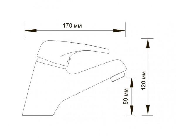 Смеситель для умывальника WasserKRAFT (Германия) Oder 6303